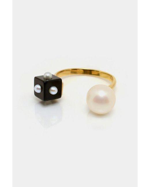 Nektar De Stagni | White Pearl & Onyx Ring | Lyst