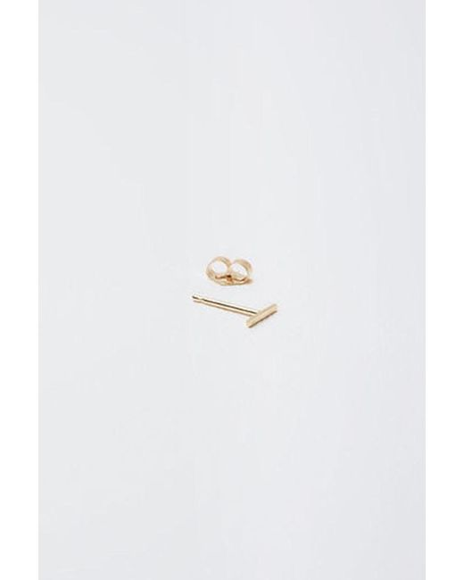 Kathleen Whitaker - Multicolor 14k Gold Staple Stud - Lyst