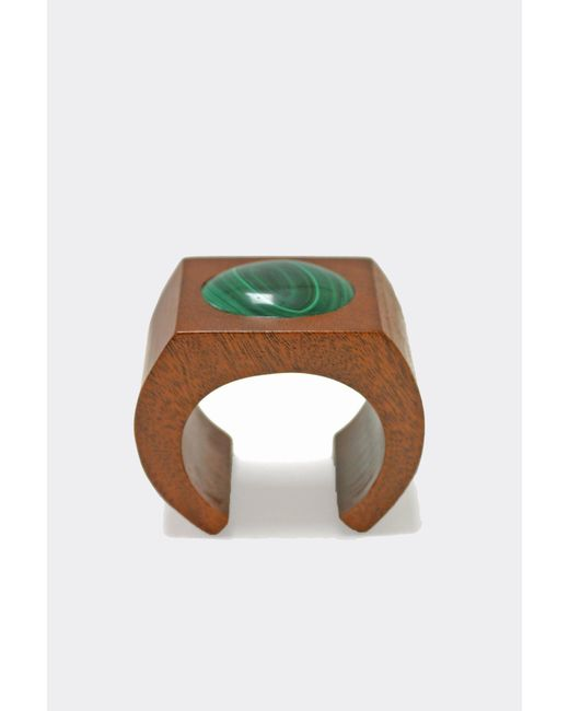 Sophie Monet - Green Malachite Moon Cuff - Lyst