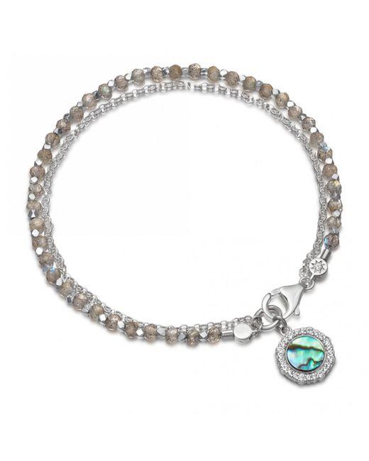 Astley Clarke Multicolor Luna Abalone Biography Bracelet