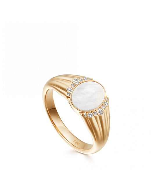 Astley Clarke - Multicolor Luna Mother Of Pearl Signet Ring - Lyst