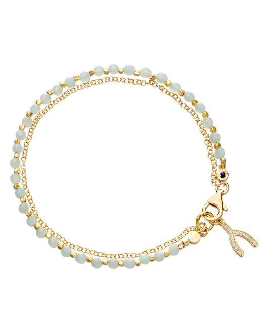Astley Clarke - Gray Amazonite Wishbone Biography Bracelet - Lyst