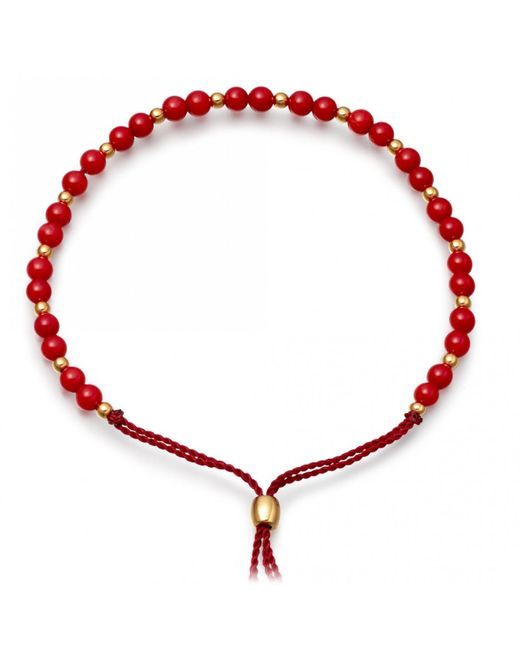 Astley Clarke | Red Sea Bamboo Beaded Skinny Bracelet | Lyst