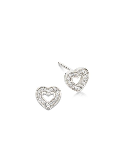 Astley Clarke | Metallic Mini Heart Biography Stud Earrings | Lyst