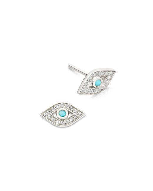 Astley Clarke | Metallic Mini Evil Eye Biography Stud Earrings | Lyst