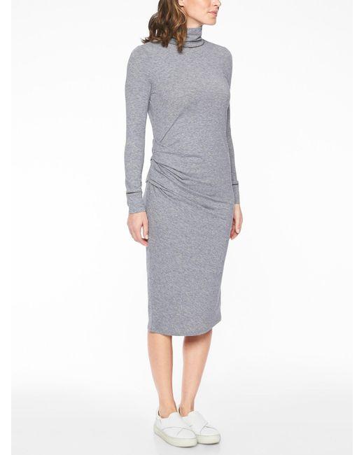 06a8c68ff5c Athleta Industry Turtleneck Dress in Gray - Lyst