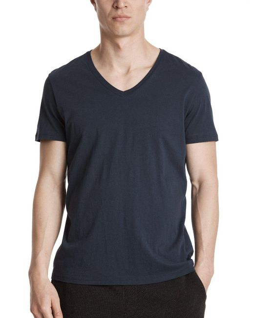 ATM | Blue Classic Jersey V-neck Tee for Men | Lyst