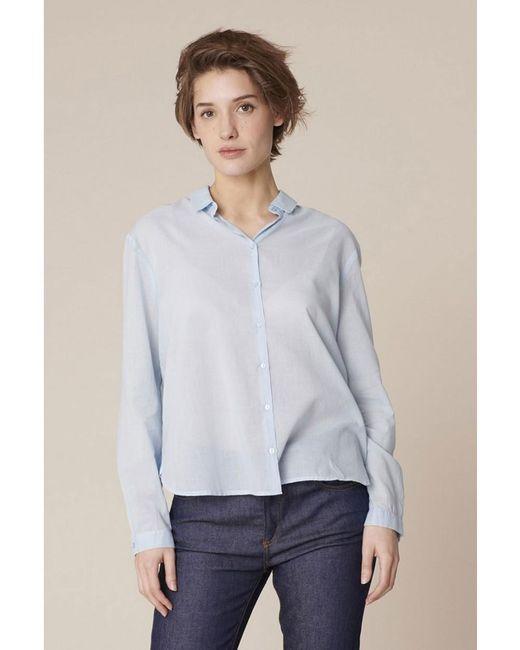 Harris Wilson - Blue Cabrie Cotton Voile Shirt - Lyst