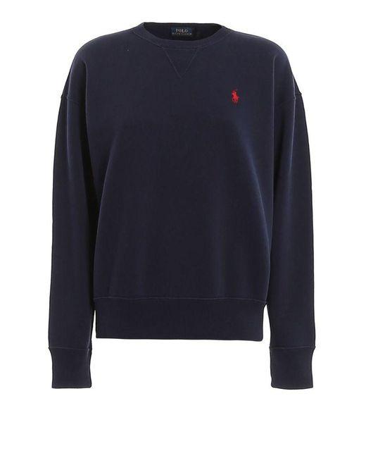 Ralph Lauren Women's 211794395003 Blue Cotton Sweatshirt