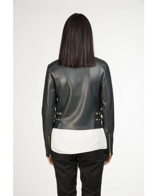 MICHAEL Michael Kors - Blue Leather Jacket In Navy - Lyst