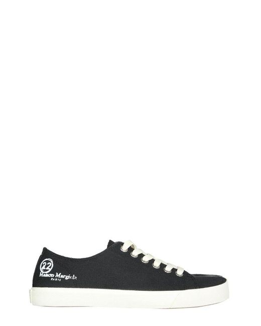 Maison Margiela Black Tabi Sneakerss