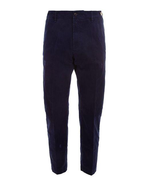 White Sand Whitesand Men's 19su10303037 Blue Cotton Pants for men