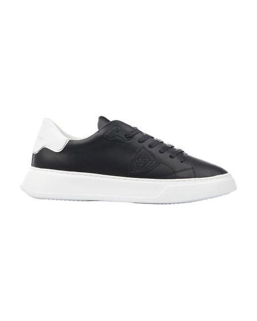 "Philippe Model Black Sneaker ""temple Low Man Veau"" for men"