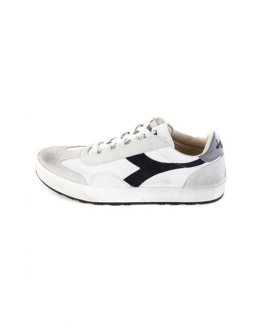 come trovare prima clienti seleziona per genuino Men's White Diadora B Original H Leather Dirty Bianco Blu