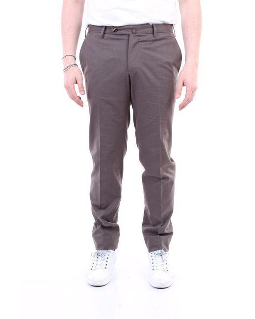 PT Torino Brown Trousers Regular Men Mud for men