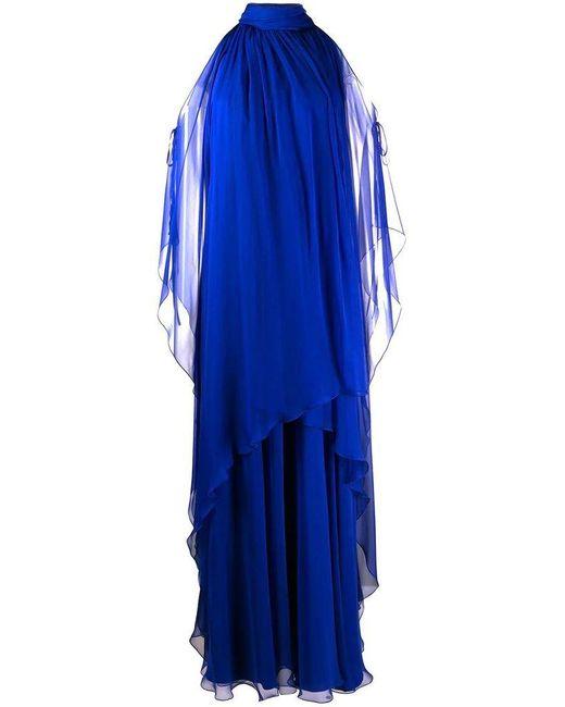 Alberta Ferretti Women's V047501140296 Blue Silk Dress