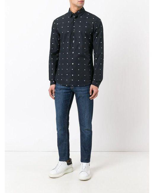 McQ Alexander McQueen Black Googe Shirt | for men