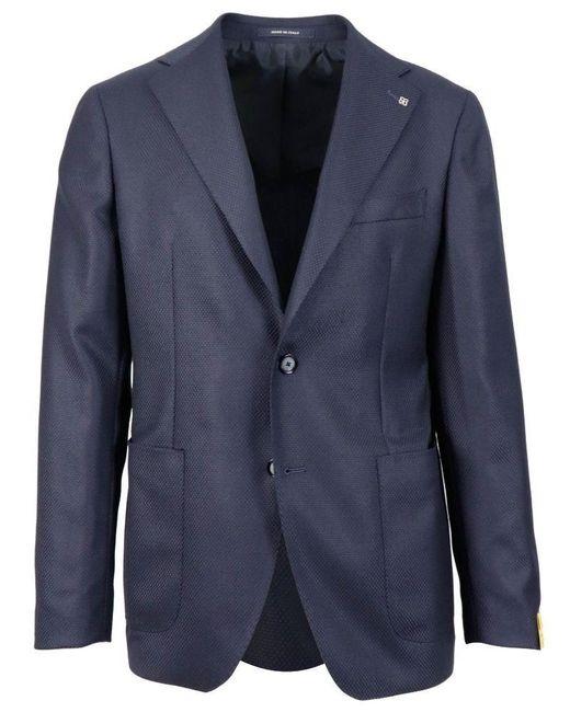 Tagliatore Men's 1sfr22k06uig298eb831 Blue Wool Blazer for men