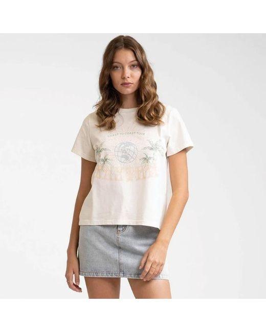 Rhythm Vintage Off-white Surf Tour T-shirt