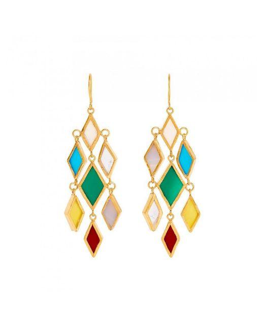 Pippa Small Multicolor Rabia Multi Drop Agate Earrings