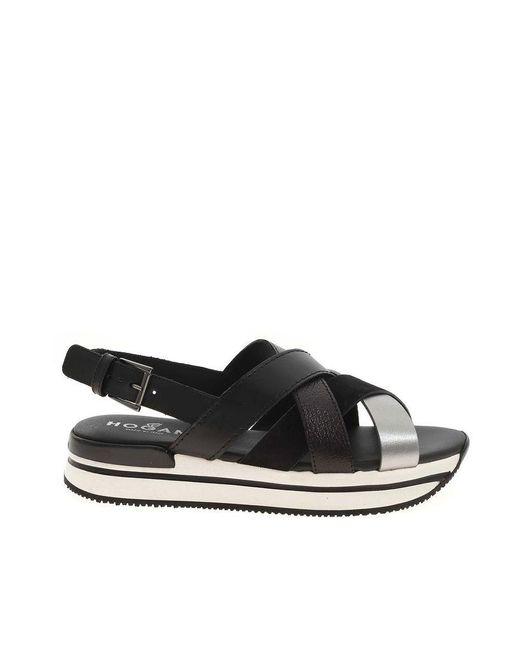 Hogan Women's Hxw2570dk80pds0rsp Black Other Materials Sandals