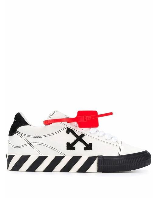 Off-White c/o Virgil Abloh White Vulcanized Low Leather Trainers