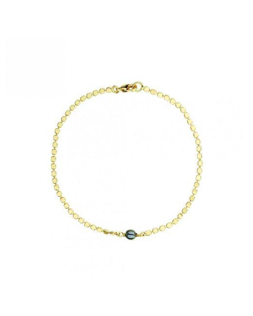 Atterley - Metallic Gold Plated Drop Bracelet With Hematite - Lyst