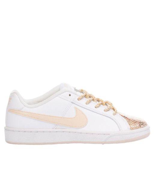 Nike Women's Mi1584 White Leather Sneakers