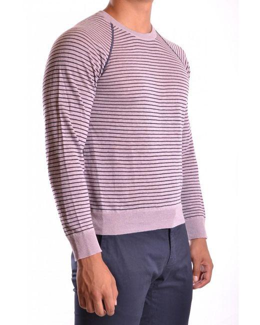 Armani - Men's Mcbi024044o Purple Linen Sweater for Men - Lyst