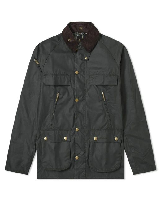 Barbour Green 125th Anniversary Icons Bedale Wax Sage for men