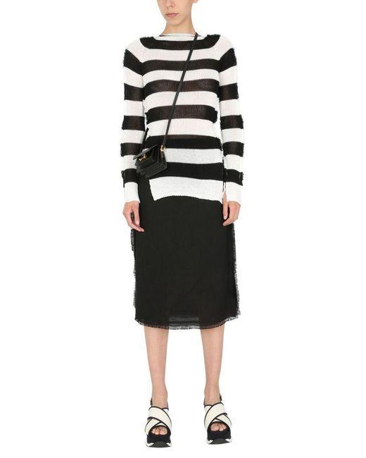 Marni Black Midi Skirt