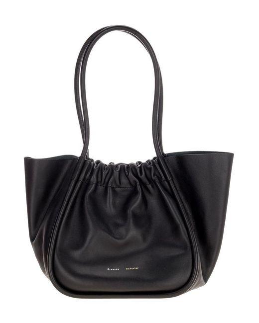Proenza Schouler Black Ruched L Tote Bag