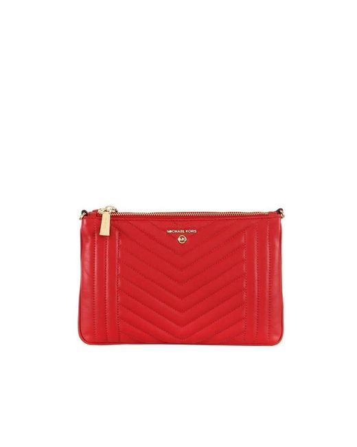 Michael Kors Women's 32h9gt9c9t683 Red Leather Pouch