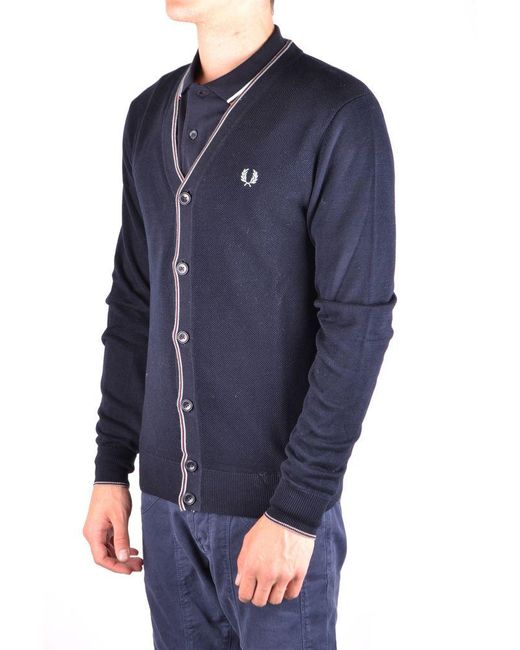 Fred Perry Cardigan In Blue for men