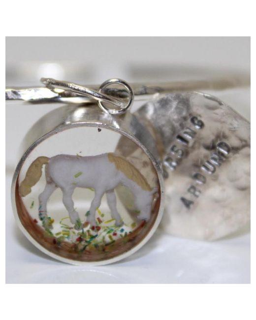 Atterley - Metallic Horse Charm Bangle - Lyst