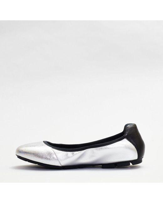 Hogan Leather Ballerina Blacks Details in Silver (Metallic) - Lyst