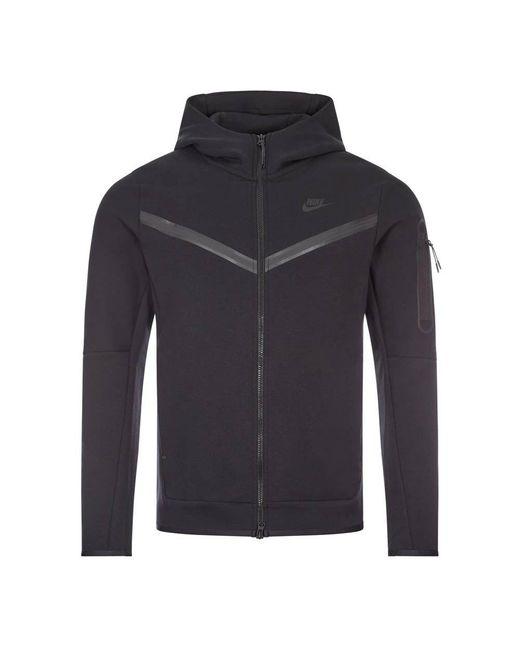 Nike Black Sportswear Tech Fleece Hoodie for men