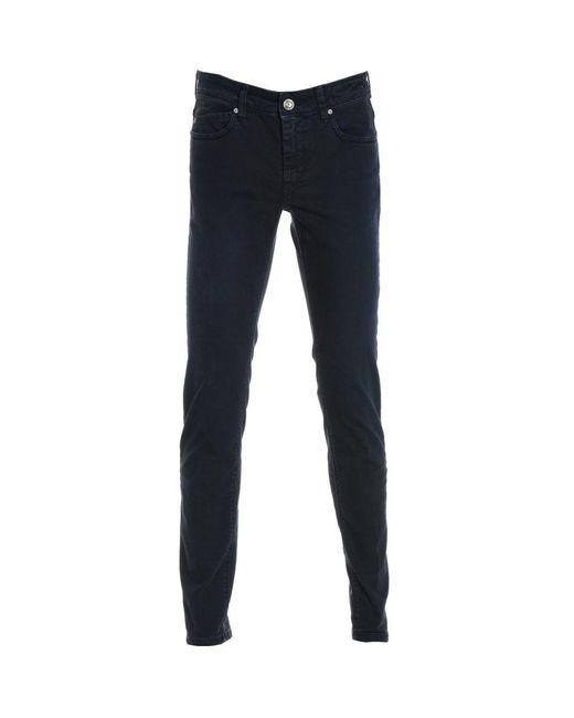 Re-hash Men's P0150088u8rubens4005 Blue Cotton Pants for men