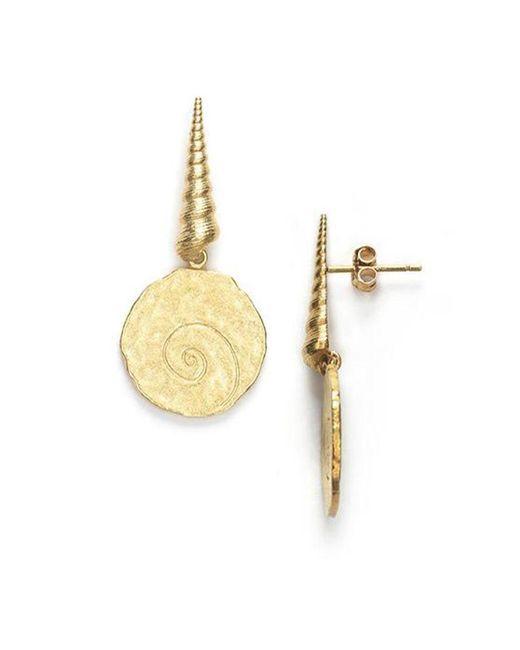 Anni Lu Metallic Large Shell Earrings