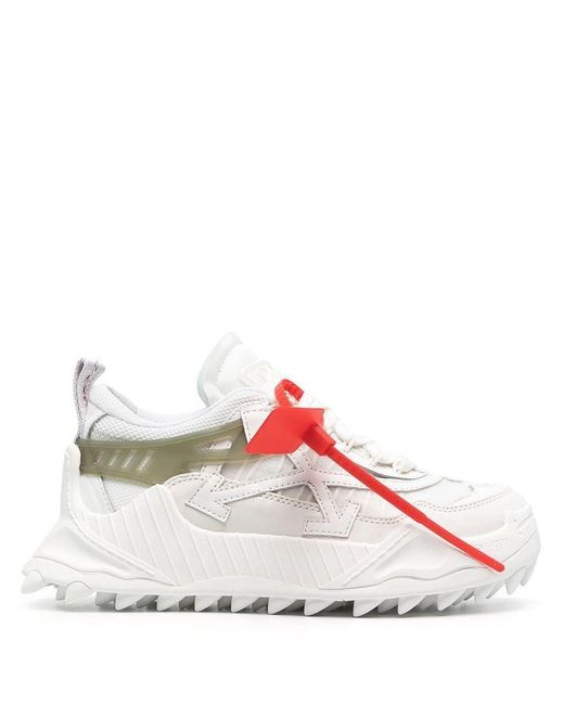 Off-White c/o Virgil Abloh Women's Owia180r21fab0010105 White Leather Sneakers