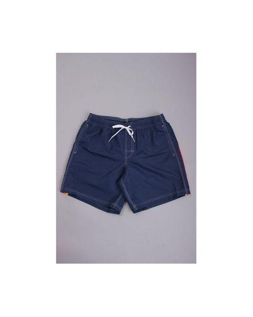 Sundek Blue Elastic Waistband Swim Shorts Colour: Navy for men