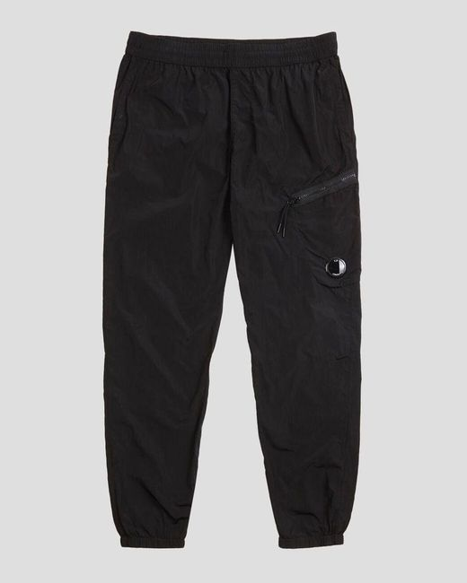 C P Company Chrome Cargo Trousers Black for men