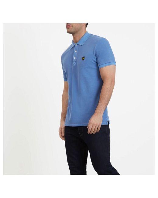 478b66e0750 ... Lyle   Scott - Blue Lyle And Scott Snow Washed Polo Shirt for Men - Lyst