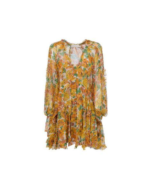 Zimmermann Women's 9977dpopsunshine Yellow Silk Dress