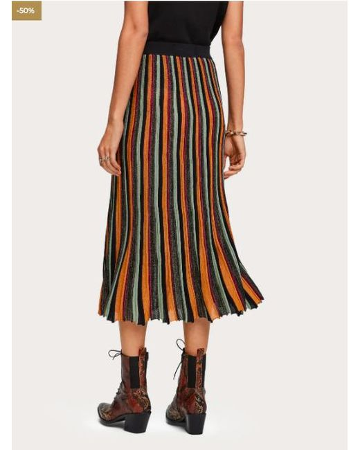 Scotch /& Soda Printed Skirt with Pleats Jupe Femme