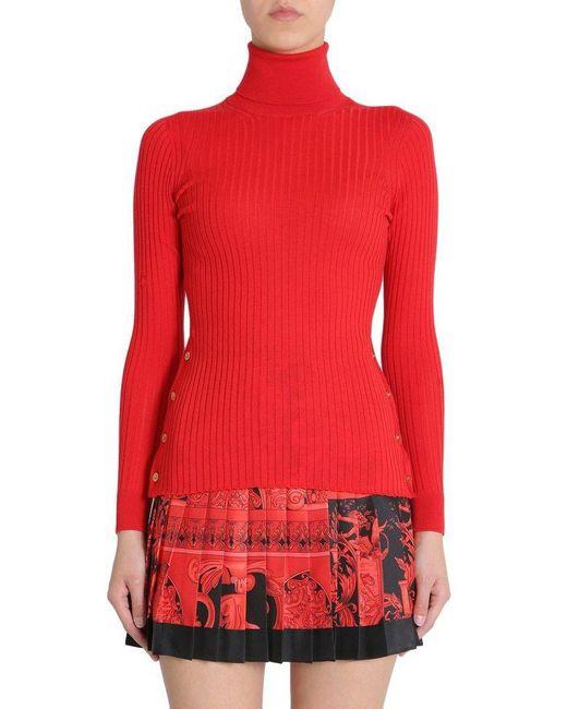 Versace Women's A80350a226328a1207 Red Wool Sweater