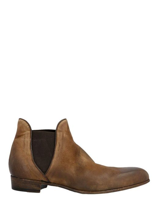 Lidfort Gray Men's 625cashmerebrunparnassela Grey Ankle Boots for men