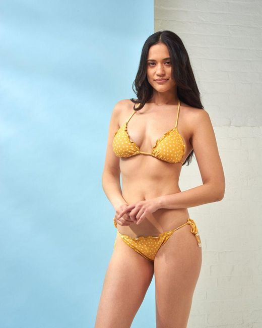 Cia.Marítima Yellow Star Print Bikini Top