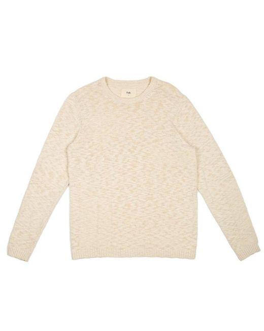 Folk Gray Folk Slub Crew Sweater for men