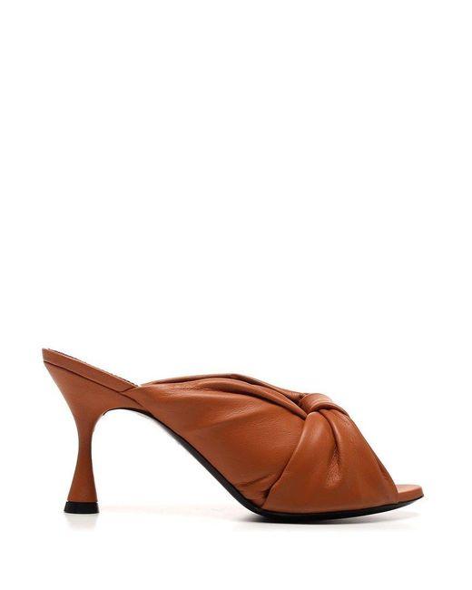 Balenciaga Women's 617574wa2m02121 Brown Leather Sandals